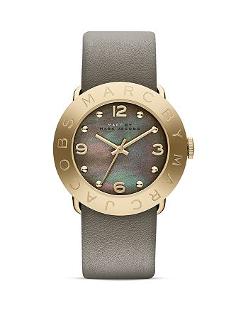 MARC JACOBS - Amy Leather Strap Watch, 36mm