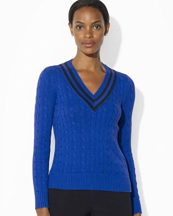 $Lauren Ralph Lauren V Neck Cricket Sweater - Bloomingdale's