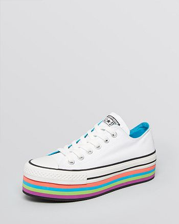 5270b4f2646f69 Converse Lace Up Platform Sneakers - Converse All Star Multicolor ...