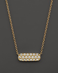 Small Diamond Bar Pendant in 14K Yellow Gold, .12 ct. t.w. - Bloomingdale's_0
