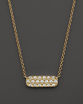 Bloomingdale's - Small Diamond Bar Necklace in 14K Yellow Gold, .12 ct. t.w.- 100% Exclusive