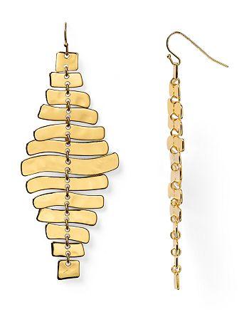 Robert Lee Morris Soho - Sculptural Rectangular Linear Earrings