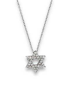 Diamond Star of David Pendant Necklace in 14K White Gold, .14 ct. t.w. - Bloomingdale's_0