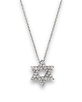 Bloomingdale's - Diamond Star of David Pendant Necklace in 14K White Gold, .14 ct. t.w.- 100% Exclusive