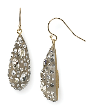 Alexis Bittar Lucite Crystal Dust Dewdrop Earrings