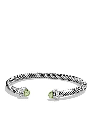 David Yurman - Cable Classics Bracelet with Prasiolite & Diamonds