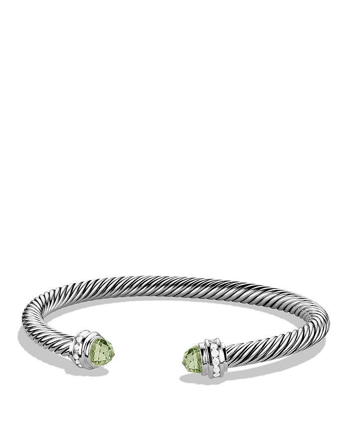 f6f144ea29484 David Yurman Cable Classics Bracelet with Prasiolite   Diamonds ...
