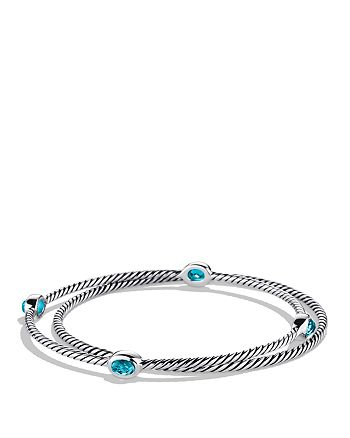 David Yurman - Color Classics Bangles with Blue Topaz