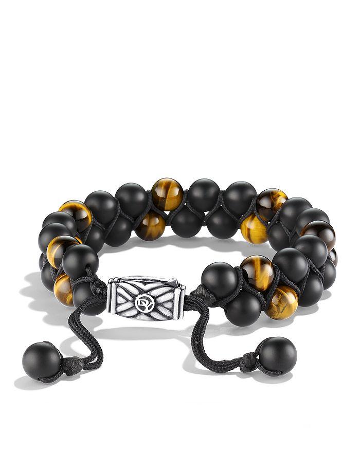 David Yurman - Spiritual Beads Two-Row Bracelet with Black Onyx & Tiger's Eye
