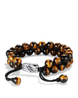 David Yurman - Spiritual Beads Two-Row Bracelet with Tiger's Eye