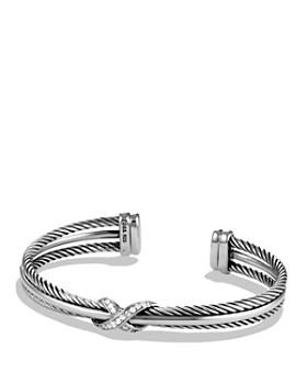 David Yurman - X Crossover Cuff with Diamonds