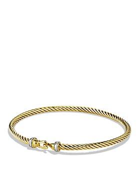 David Yurman - Cable Buckle Bracelet with Diamonds in Gold