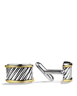 David Yurman - David Yurman Cable Cigar Band Cufflinks with Gold