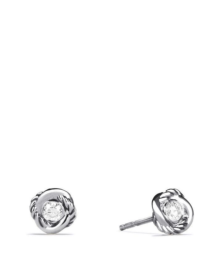 David Yurman - Infinity Earrings with Diamonds