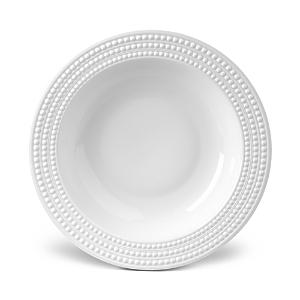 L'Objet Perlee White Serving Bowl