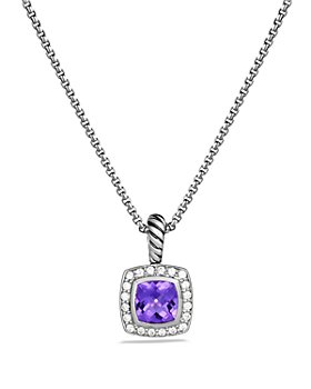 David Yurman - Petite Albion Pendant with Amethyst and Diamonds on Chain