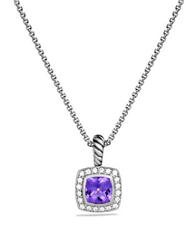 David Yurman - Petit Albion Necklace with Gemstones & Diamonds on Chain