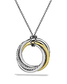 David Yurman - Crossover™ Pendant with Gold on Chain