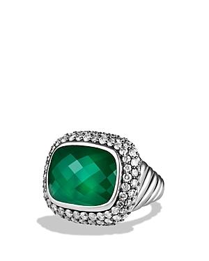 David Yurman Waverly Limited-Edition Ring with Green Onyx & Gray Diamonds