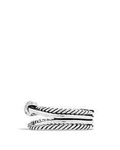 David Yurman - X Crossover Ring with Diamonds
