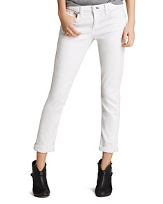 rag & bone/JEAN - The Dre Slim Boyfriend Jeans in Aged Bright White