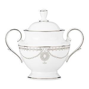 Marchesa by Lenox Empire Pearl Sugar Bowl, White