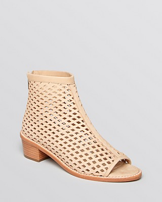 Loeffler Randall Perforated Leather Peep-Toe Booties for sale online store outlet view lowest price cheap price buy cheap good selling authentic cheap price bVUigXW8s