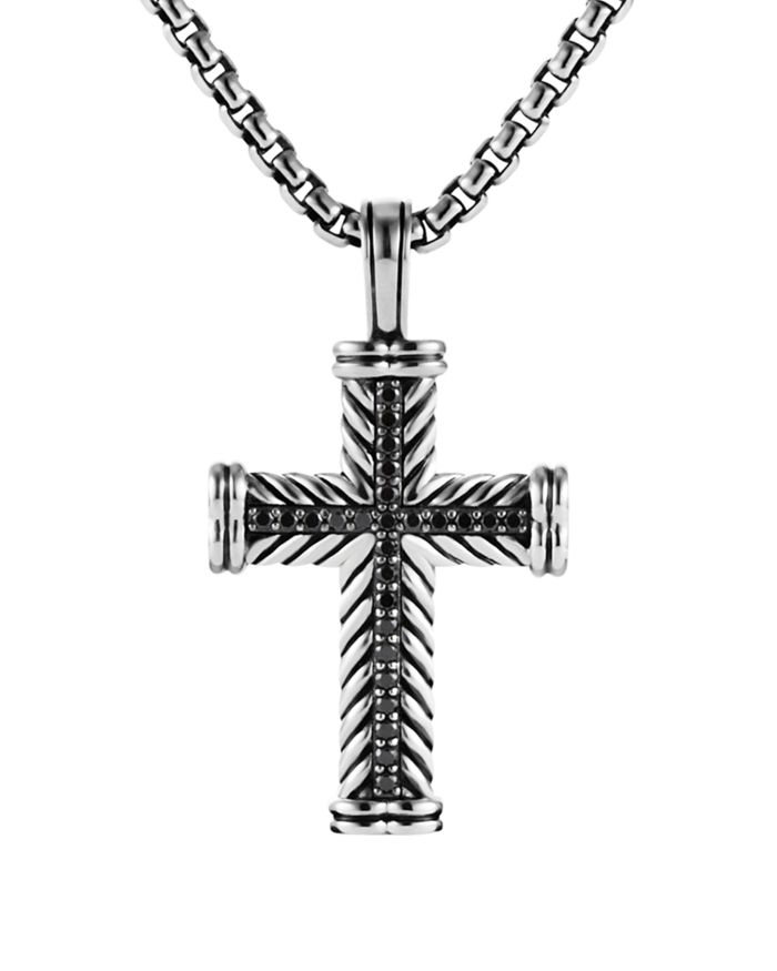 David Yurman Chevron Cross with Black Diamonds   | Bloomingdale's