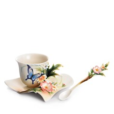 Franz Collection Fluttering Beauty Flower and Butterfly Cup & Saucer with Spoon - Bloomingdale's_0