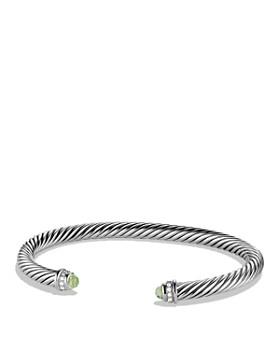 David Yurman - Cable Classics Bracelet with Prasiolite & Diamonds