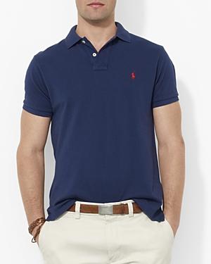 Polo Ralph Lauren Custom Short-Sleeved Cotton Mesh Polo - Slim Fit