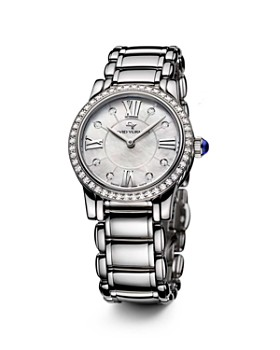 David Yurman - Classic 30mm Stainless Steel Quartz with Diamond Bezel