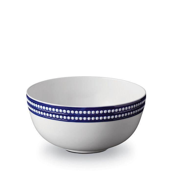 "L'Objet - Perlee Bleu 9"" Round Serving Bowl"