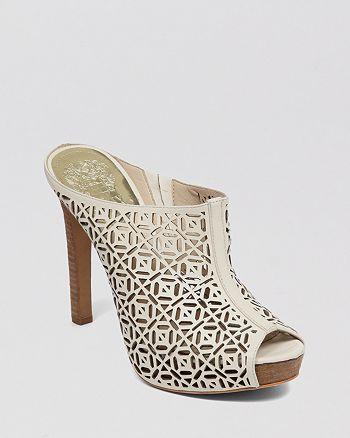 VINCE CAMUTO - Peep Toe Platform Mule Sandals - Jaso Cutout