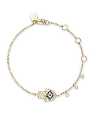 14K Yellow Gold Hamsa Bracelet