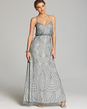 Adrianna Papell Gown - Beaded Blouson