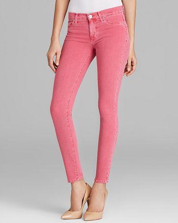 Hudson - Nico Super Skinny Jeans in Suede Rose