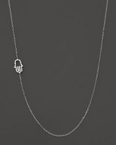 KC Designs - Diamond Hamsa Necklace in 14K White Gold, .07 ct. t.w.