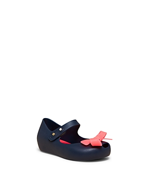 Mini Melissa Girls' Bow Mary Jane Flats - Walker, Toddler