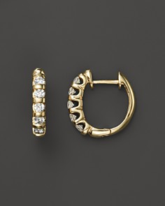 Diamond Bar Band Hoop Earrings in 14K Yellow Gold, .50 ct. t.w. - 100% Exclusive - Bloomingdale's_0
