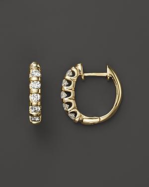 Diamond Bar Band Hoop Earrings in 14K Yellow Gold, .50 ct. t.w. - 100% Exclusive