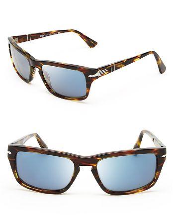4d0da53faf08 Persol Men's Keyhole Wayfarer Sunglasses | Bloomingdale's