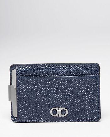 Salvatore Ferragamo - Ten-Forty On Pebbled Leather Money Clip Card Case