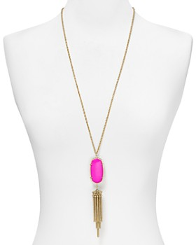 "Kendra Scott - Signature Rayne Pendant Tassel Necklace, 38"""