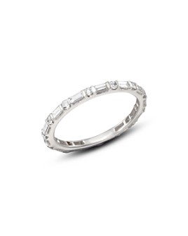 Bloomingdale's - Baguette & Round Diamond Band in 14K White Gold, 0.55 ct. t.w. - 100% Exclusive