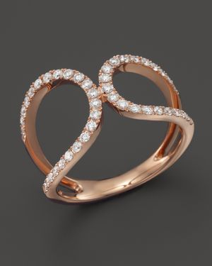Diamond Open Ring in 14K Rose Gold, .45 ct. t.w. - 100% Exclusive