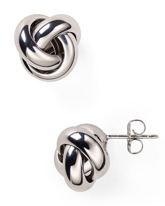 Bloomingdale's - Sterling Silver Love Knot Stud Earrings - 100% Exclusive