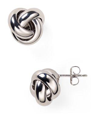 Sterling Silver Love Knot Stud Earrings - 100% Exclusive