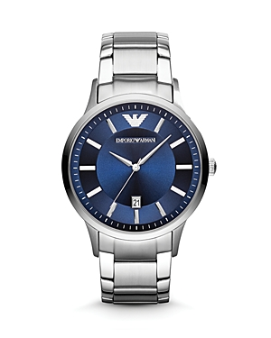 Emporio Armani 3-Hand Blue Dial Watch, 46mm