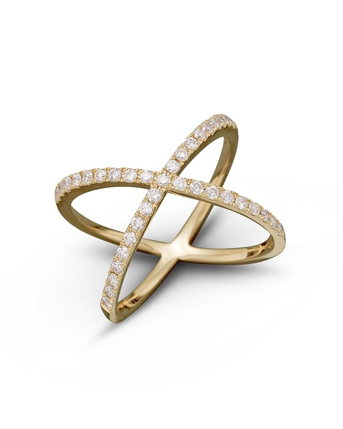 Bloomingdale's DIAMOND X BAND IN 14K YELLOW GOLD, .40 CT. T.W.